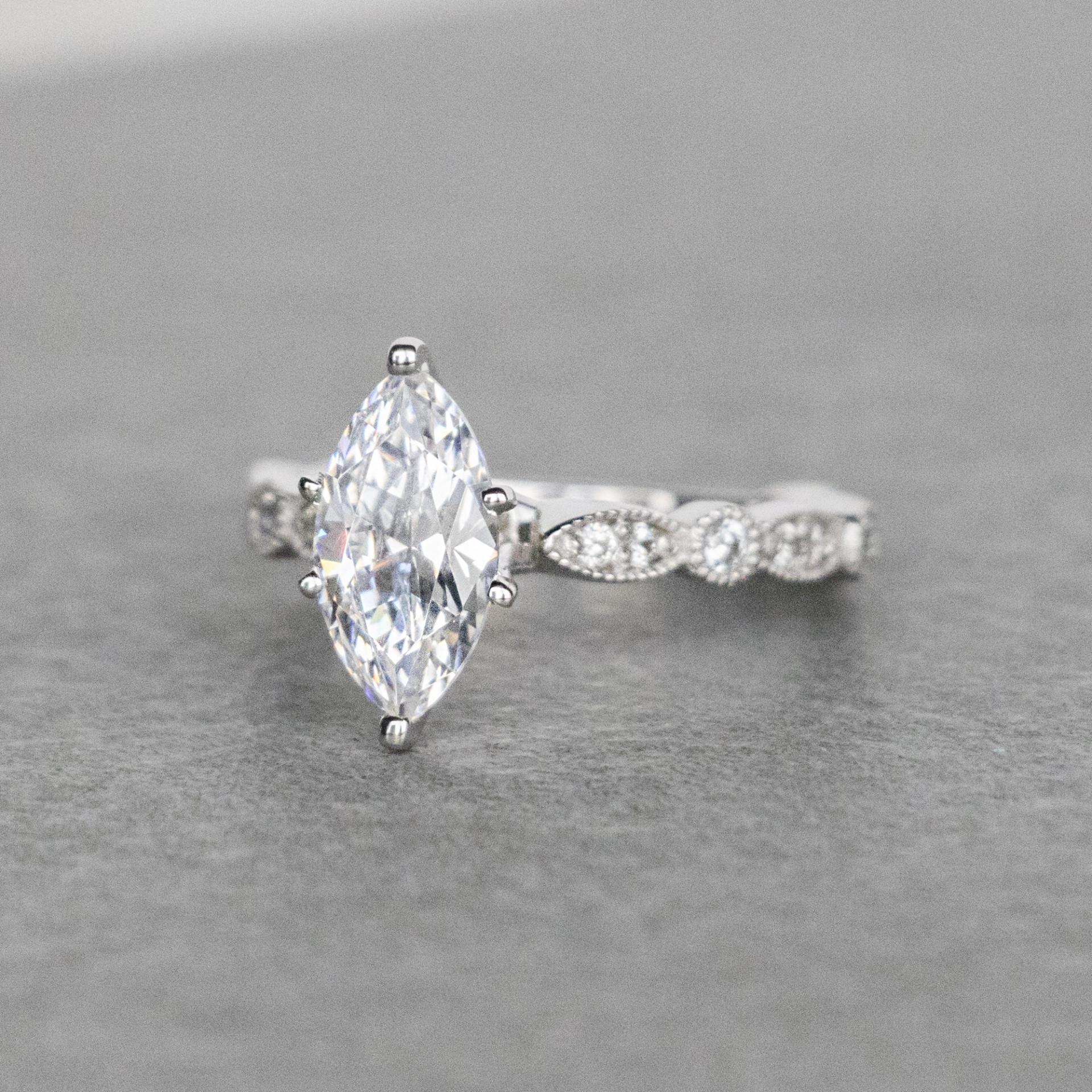 e68b1597d0572 Infinite Love Marquise cut Engagement Ring