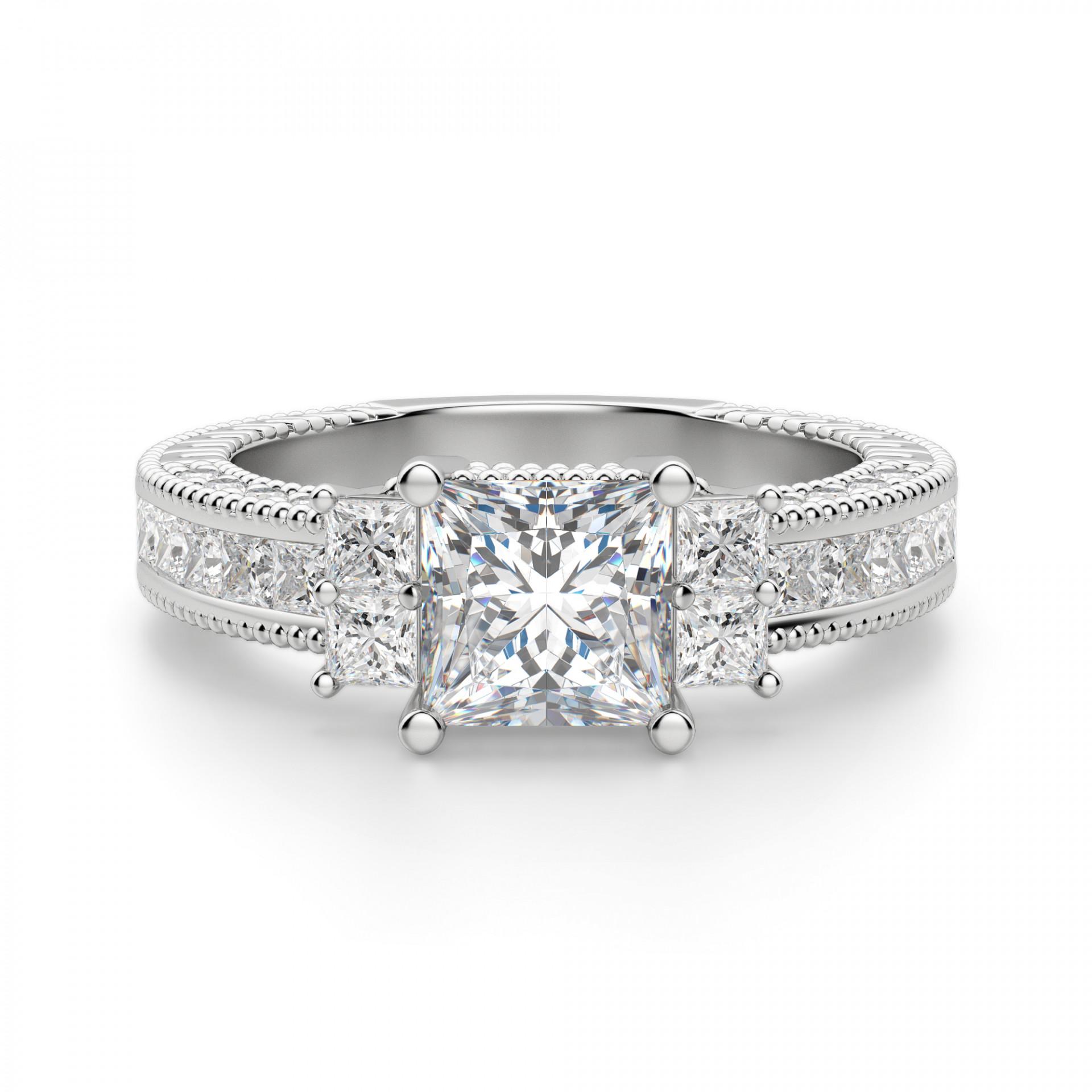 49663e4d71983 Amourette Princess Cut Engagement Ring