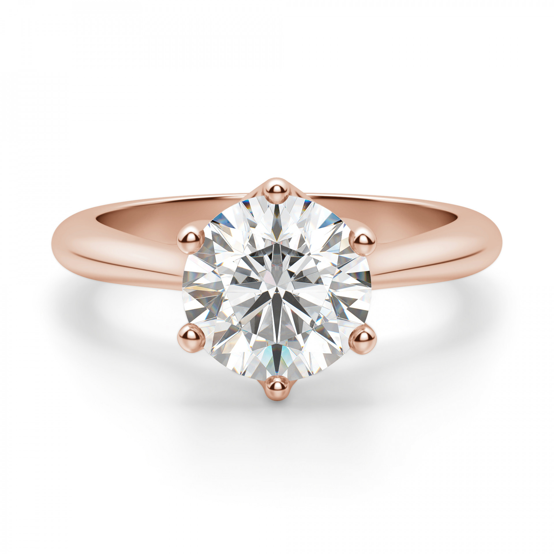 Engagement Rings Round Cut: Bali Classic Round Cut Engagement Ring
