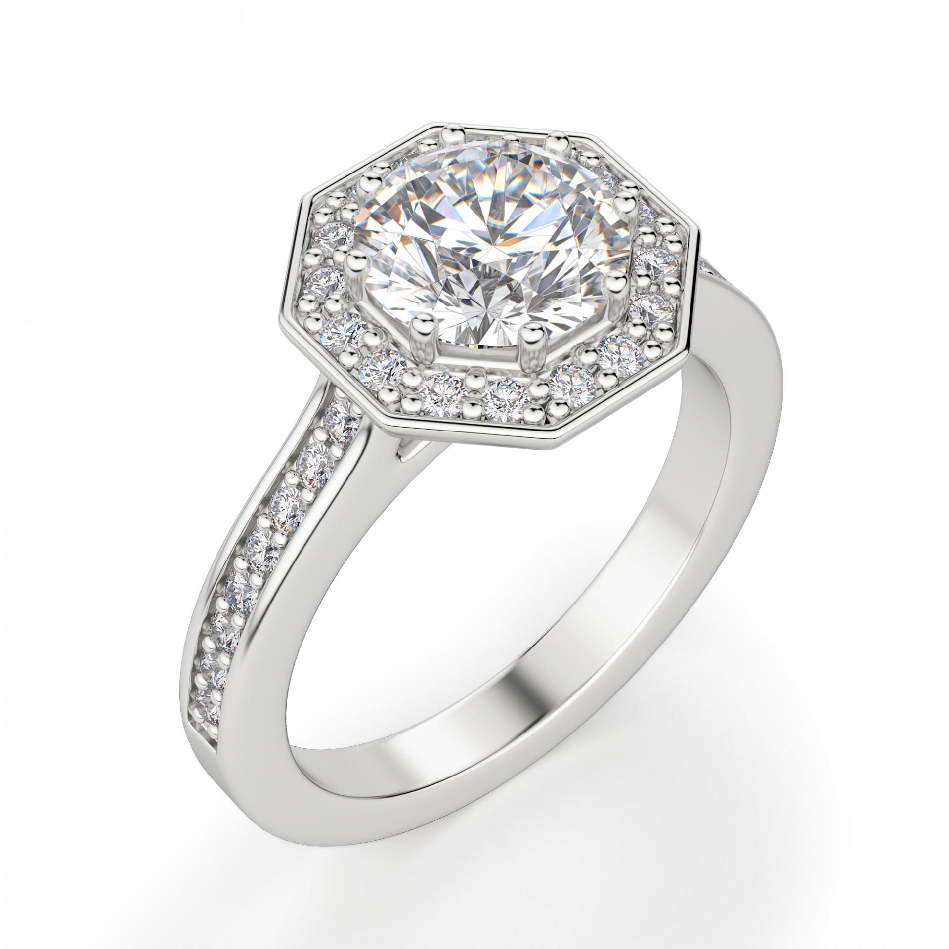 61f3bdfcd5de Cordoba Round Cut Engagement Ring - Engagement Rings - Engagement