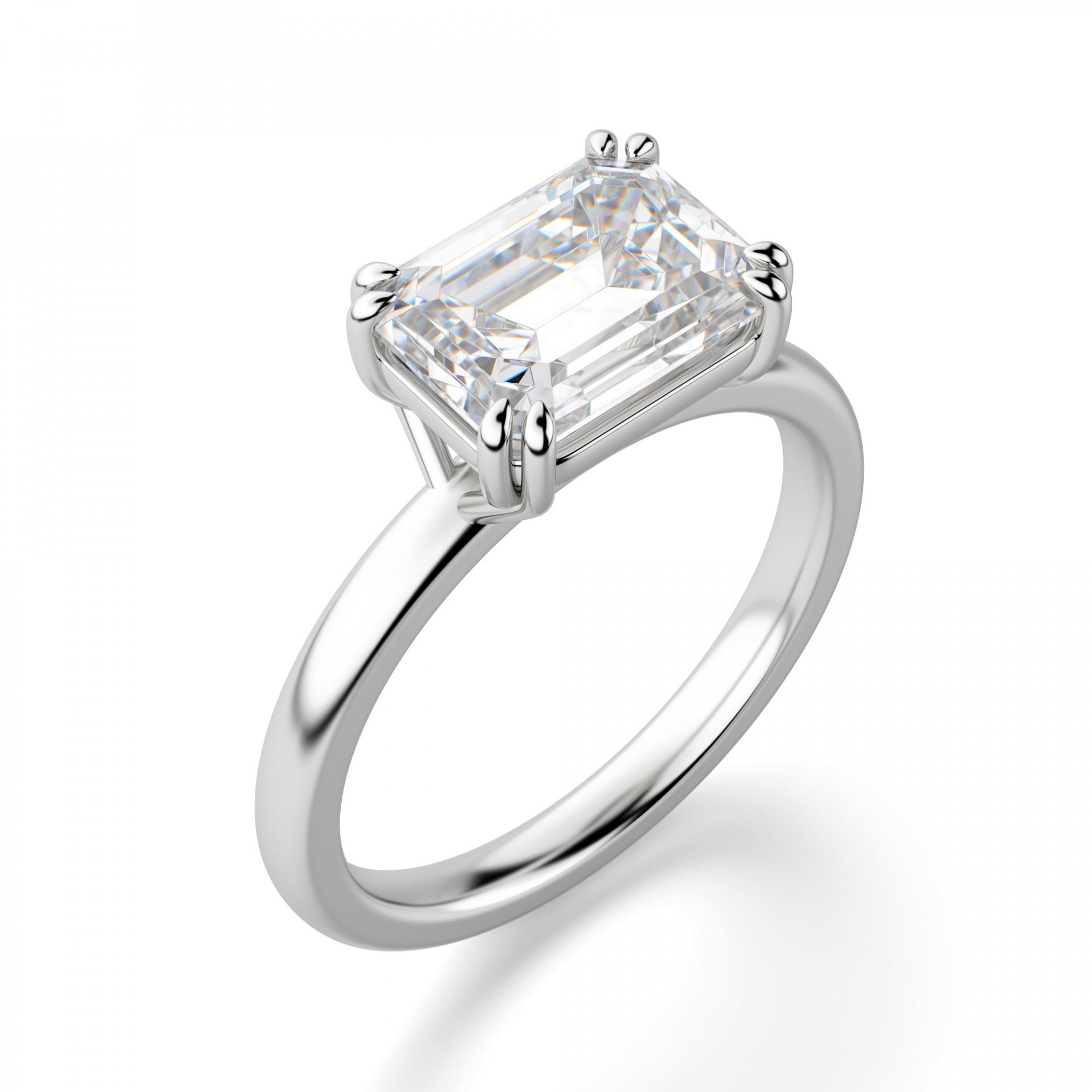east west classic emerald cut engagement ring engagement. Black Bedroom Furniture Sets. Home Design Ideas