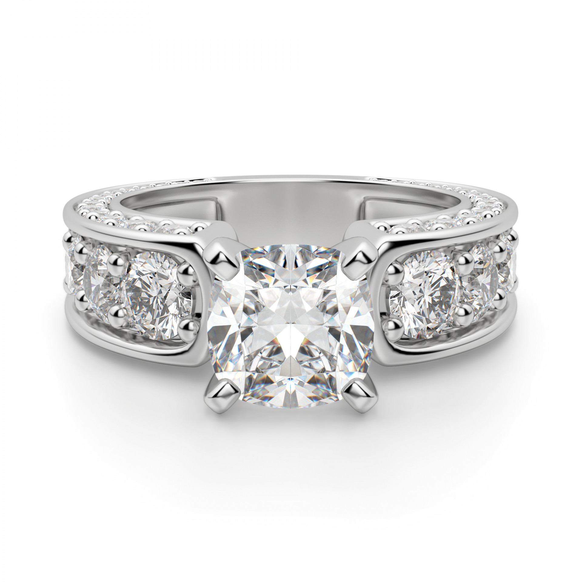 Hypnotique Cushion Cut Engagement Ring
