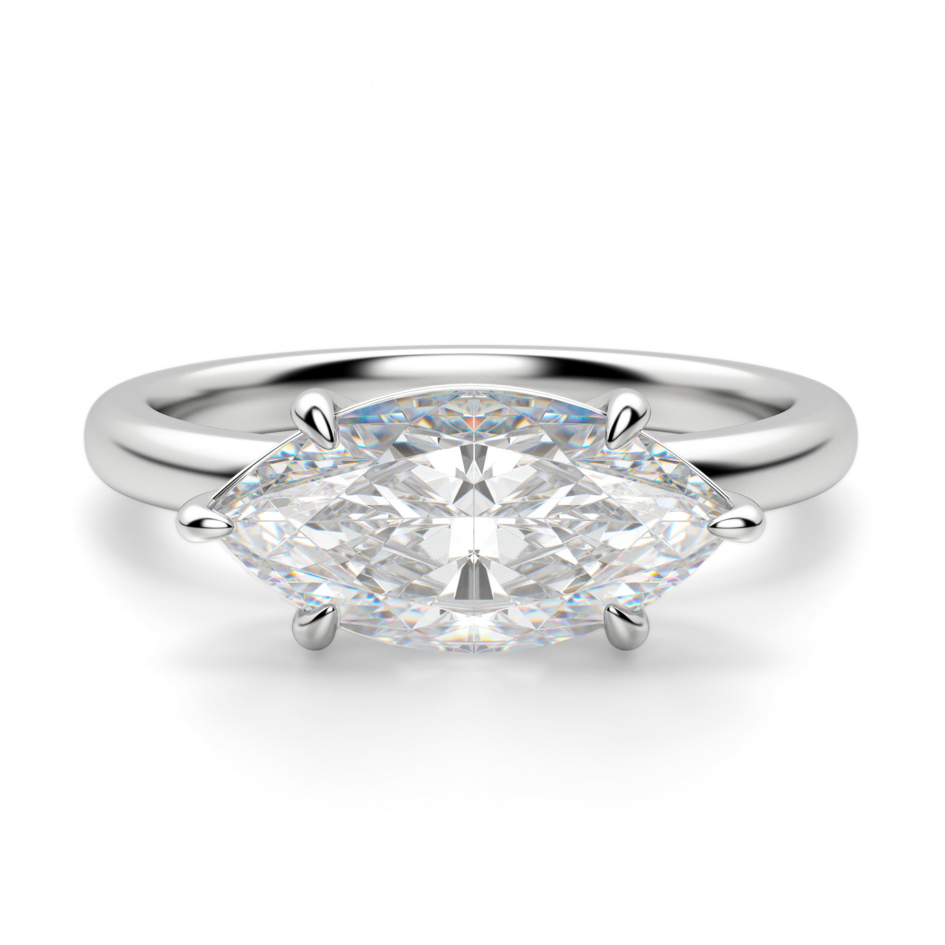 east west classic marquise cut engagement ring. Black Bedroom Furniture Sets. Home Design Ideas