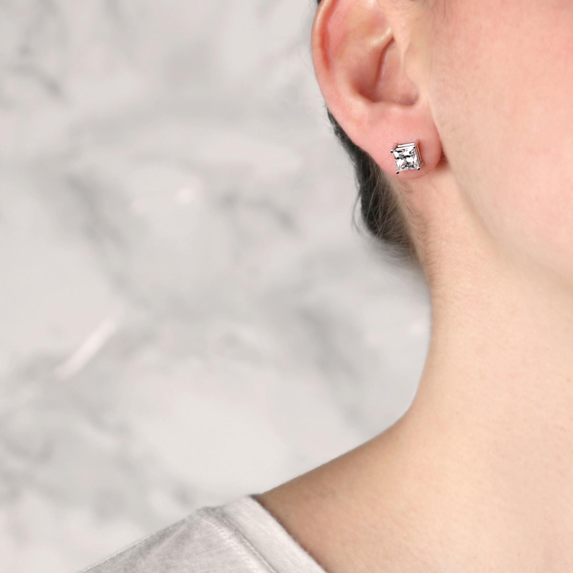 Earrings Classic Stud Princess Cut Stud Earrings