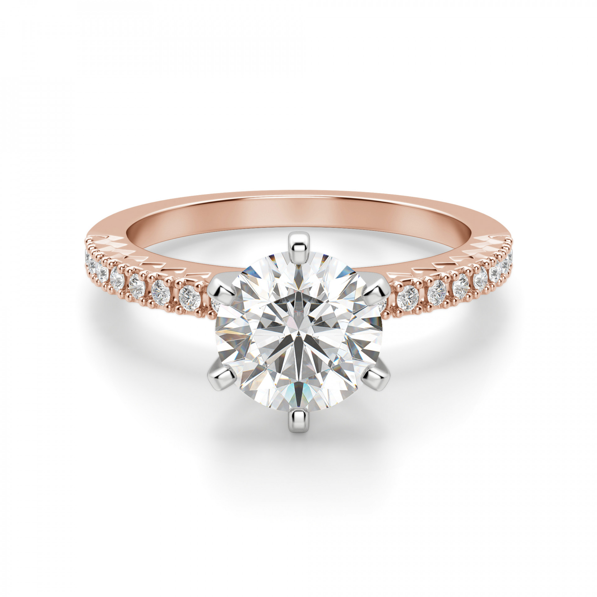 Engagement Rings Round Cut: Angelix Round Cut Engagement Ring