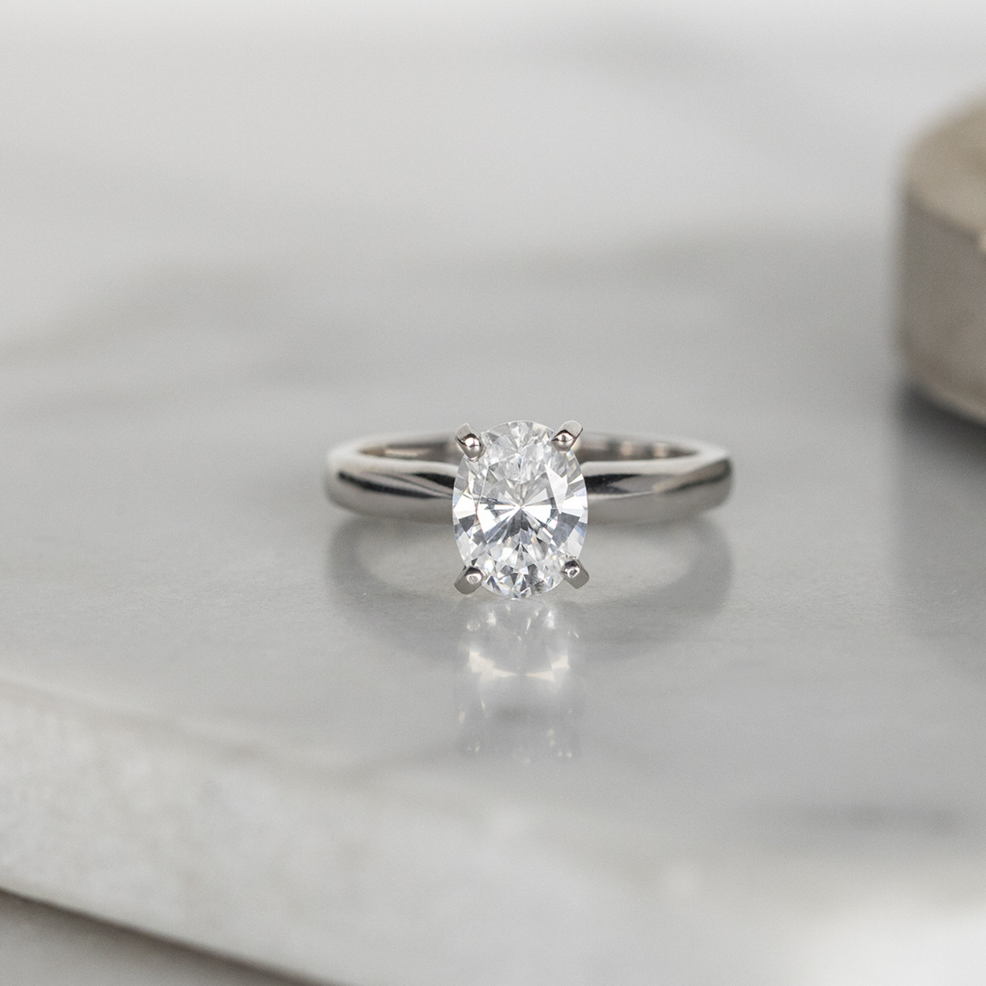 faee01de67157 Tiffany-Style Solitaire Oval Cut Engagement Ring