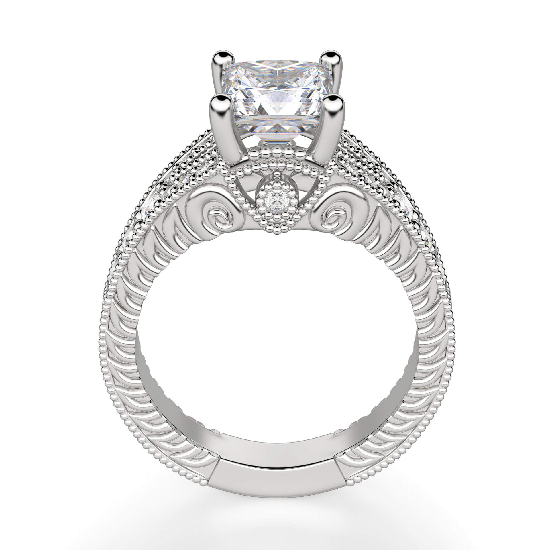 Discreet 1 Ct Princess Cut Diamond Engagement Wedding Ring 14k Solid Yellow Gold More Discounts Surprises Engagement Rings