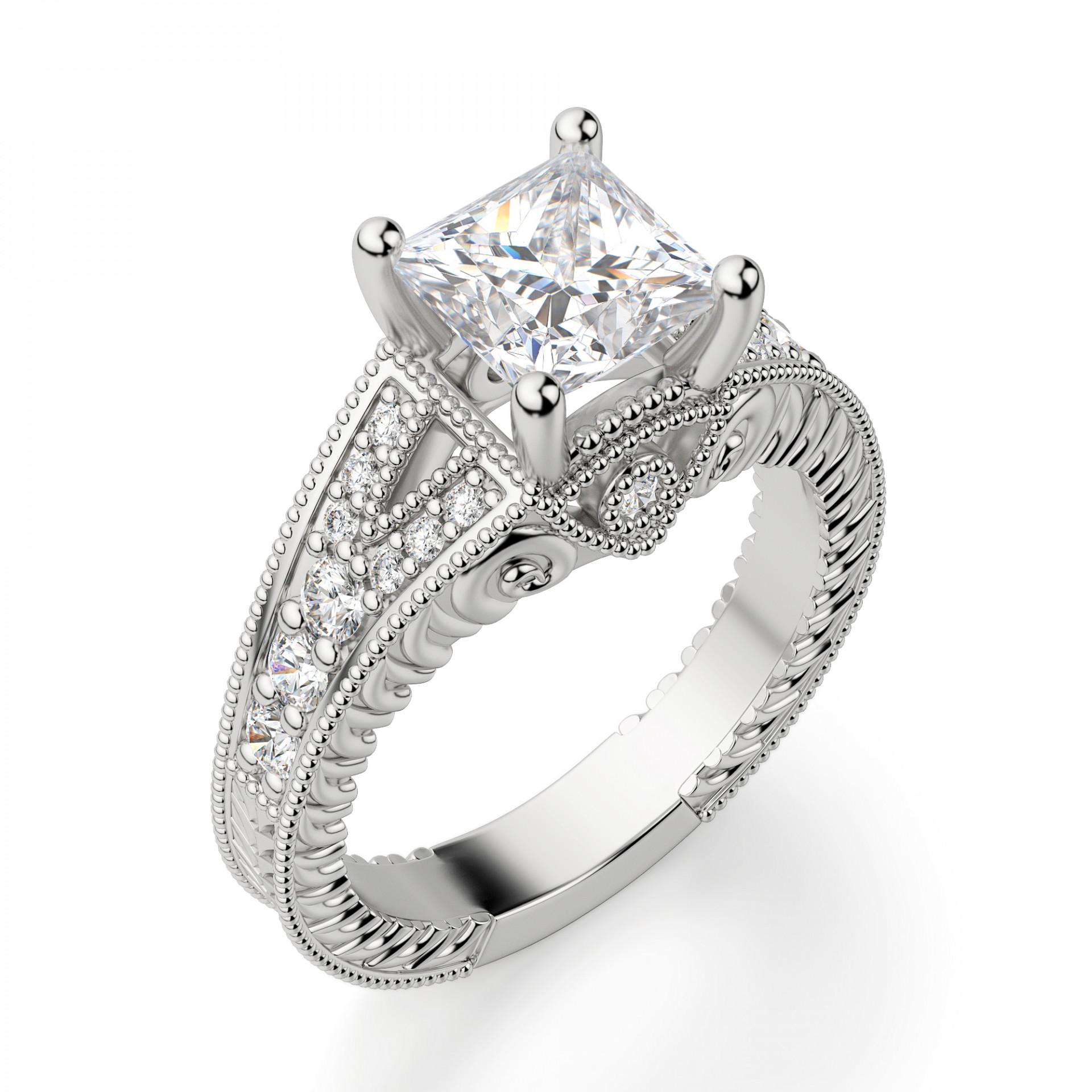 Wedding Ring Princess Cut | Valencia Princess Cut Engagement Ring
