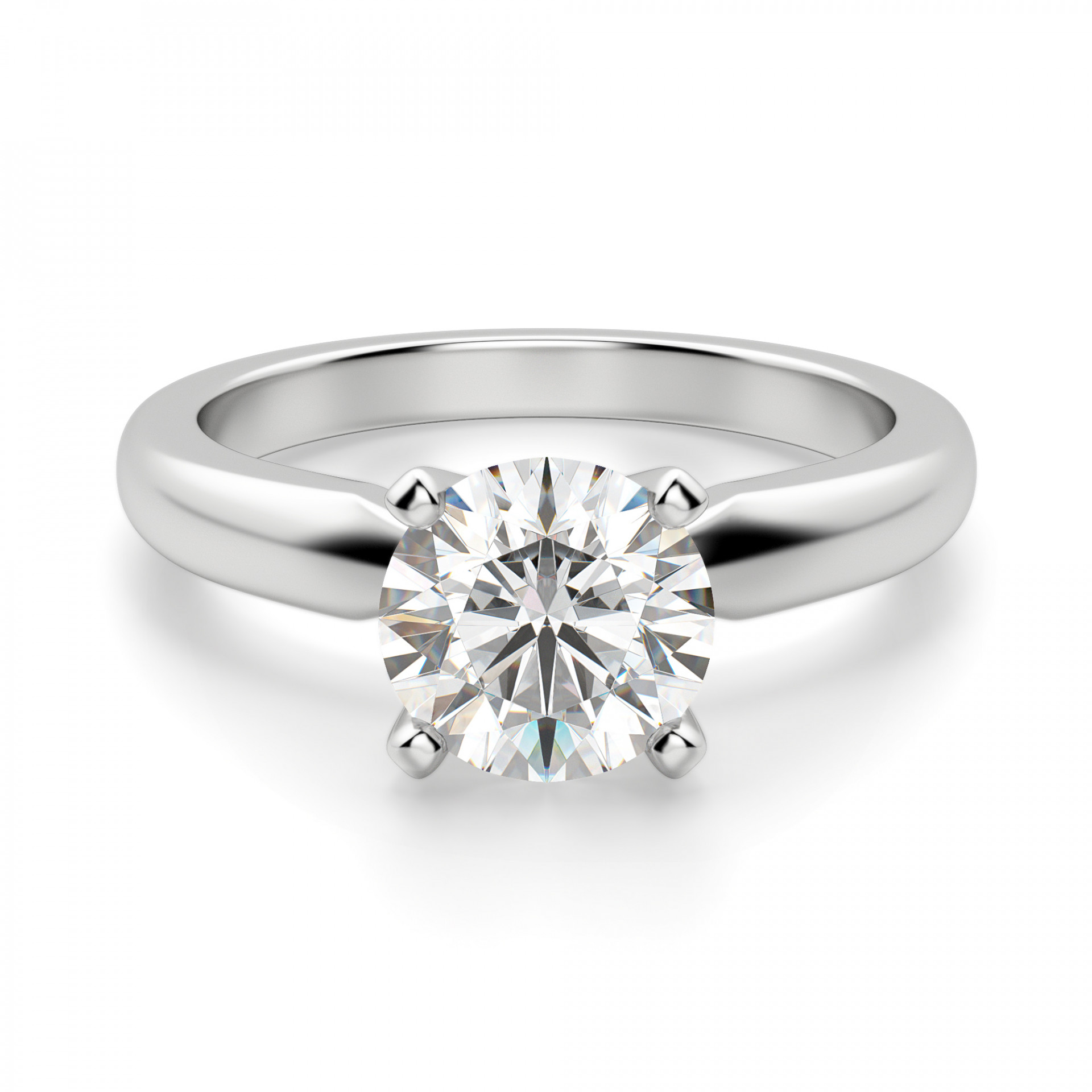 ee2117ac1ece6 Tiffany-Style Solitaire Round Cut Engagement Ring