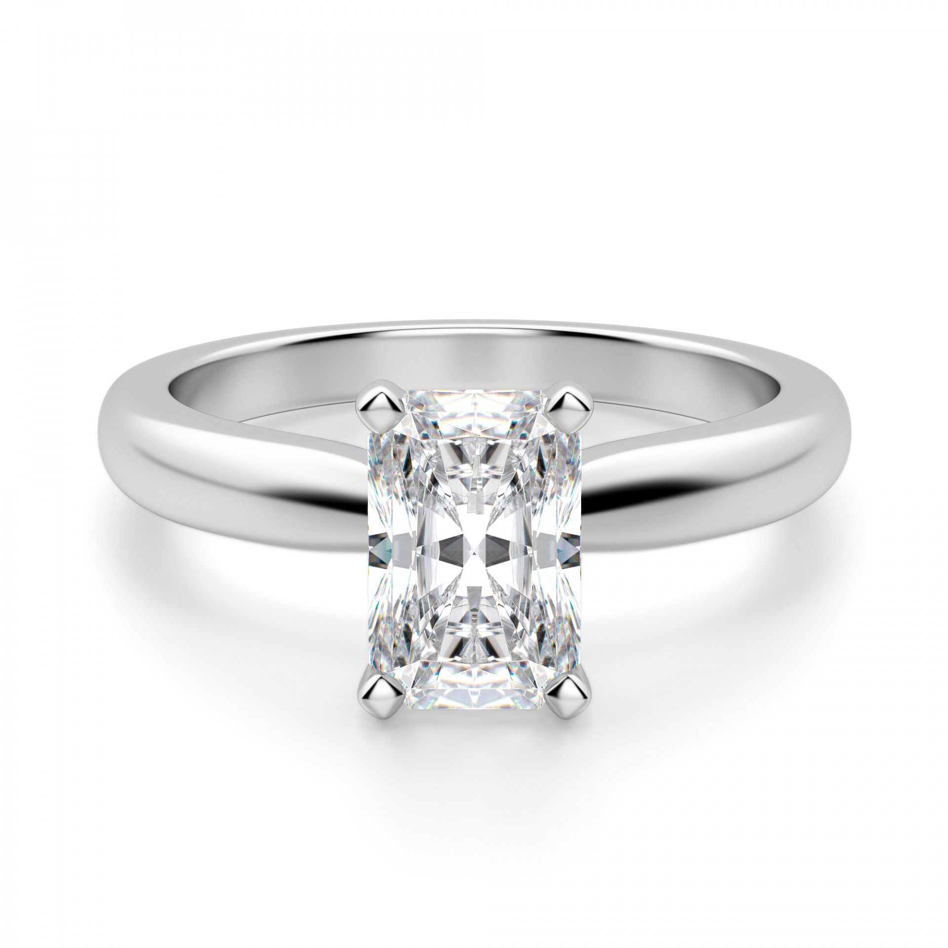 dfa3ef9360a97 Tiffany-Style Solitaire Radiant Cut Engagement Ring
