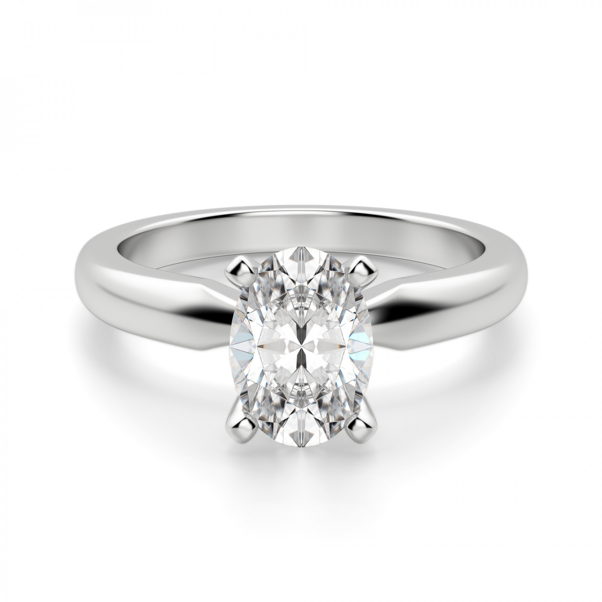 c642b1225d1eb Tiffany-Style Solitaire Oval Cut Engagement Ring