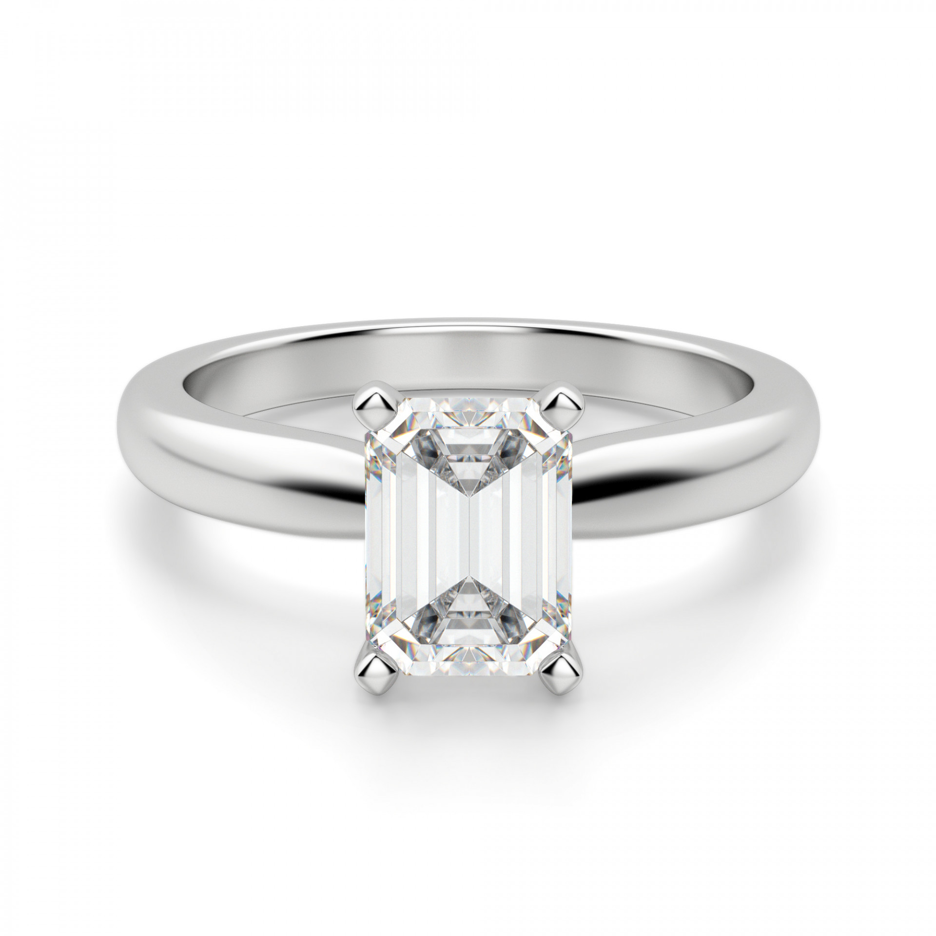 bec4c490ceb20 Tiffany-Style Solitaire Emerald Cut Engagement Ring