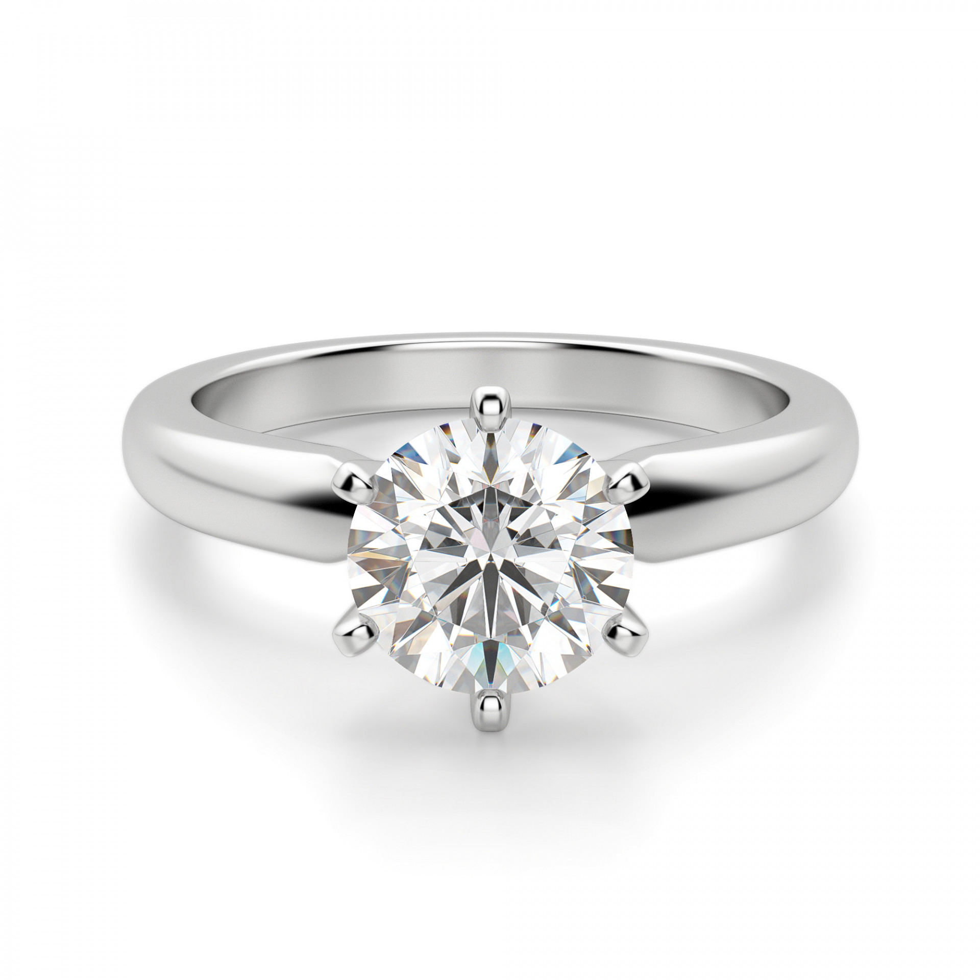 Solitaire Tiffany Bands: Tiffany-Style 6-Prong