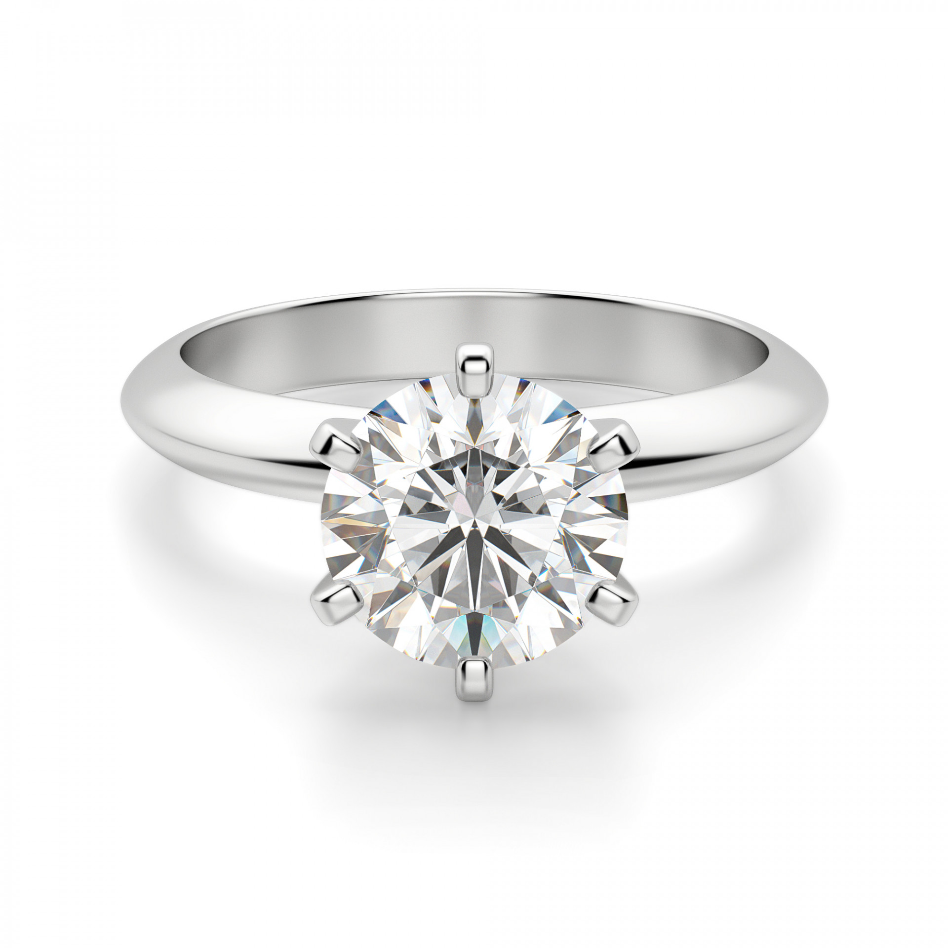 Engagement Rings Solitaire Tiffany Style Knife Edge 6 Prong