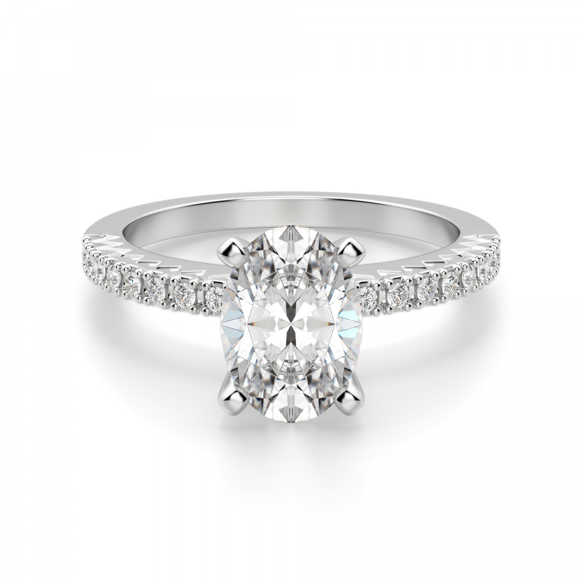 Wedding Ring Styles.Angelix Oval Cut Engagement Ring