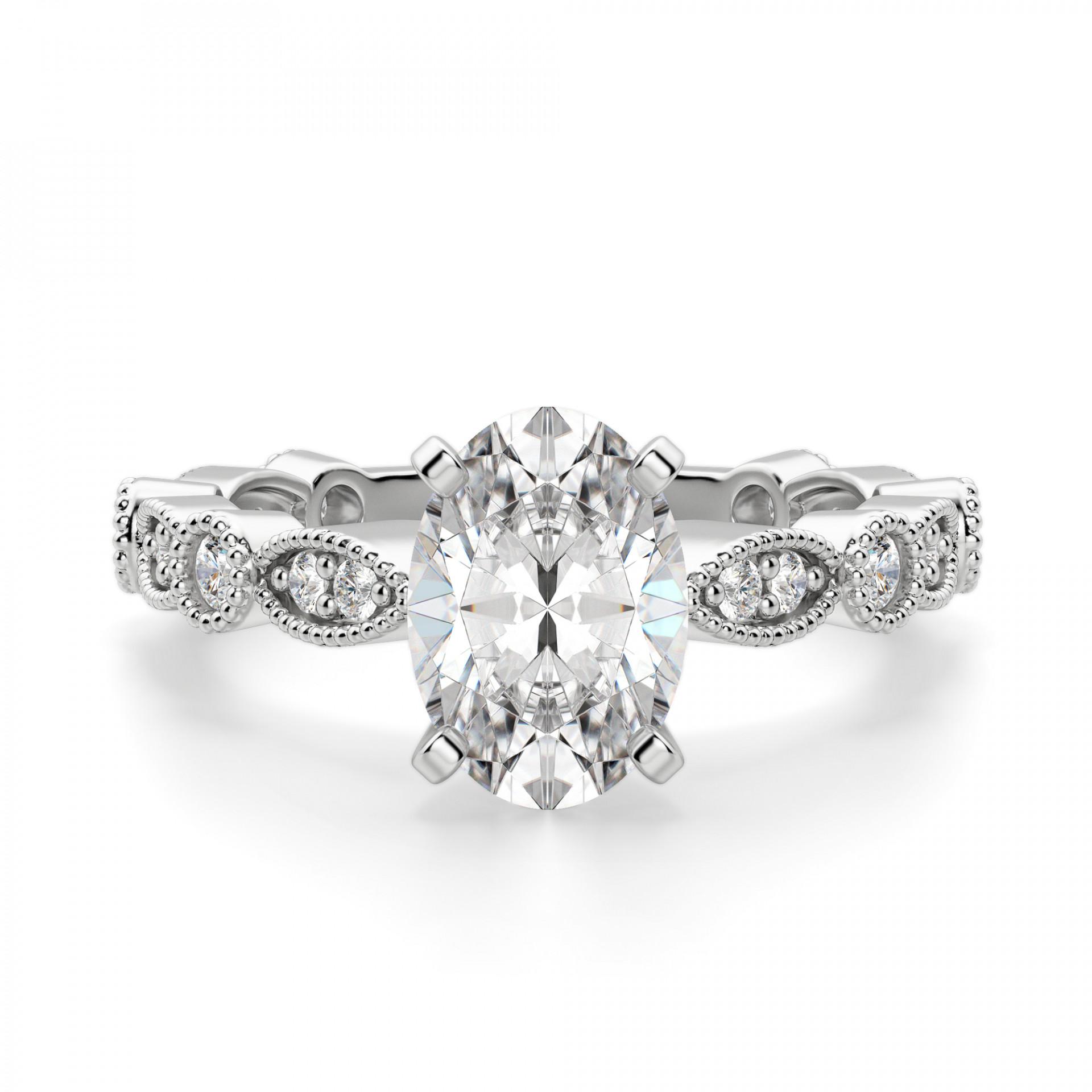 f96b4a9eb9774 Infinite Love Oval cut Engagement Ring