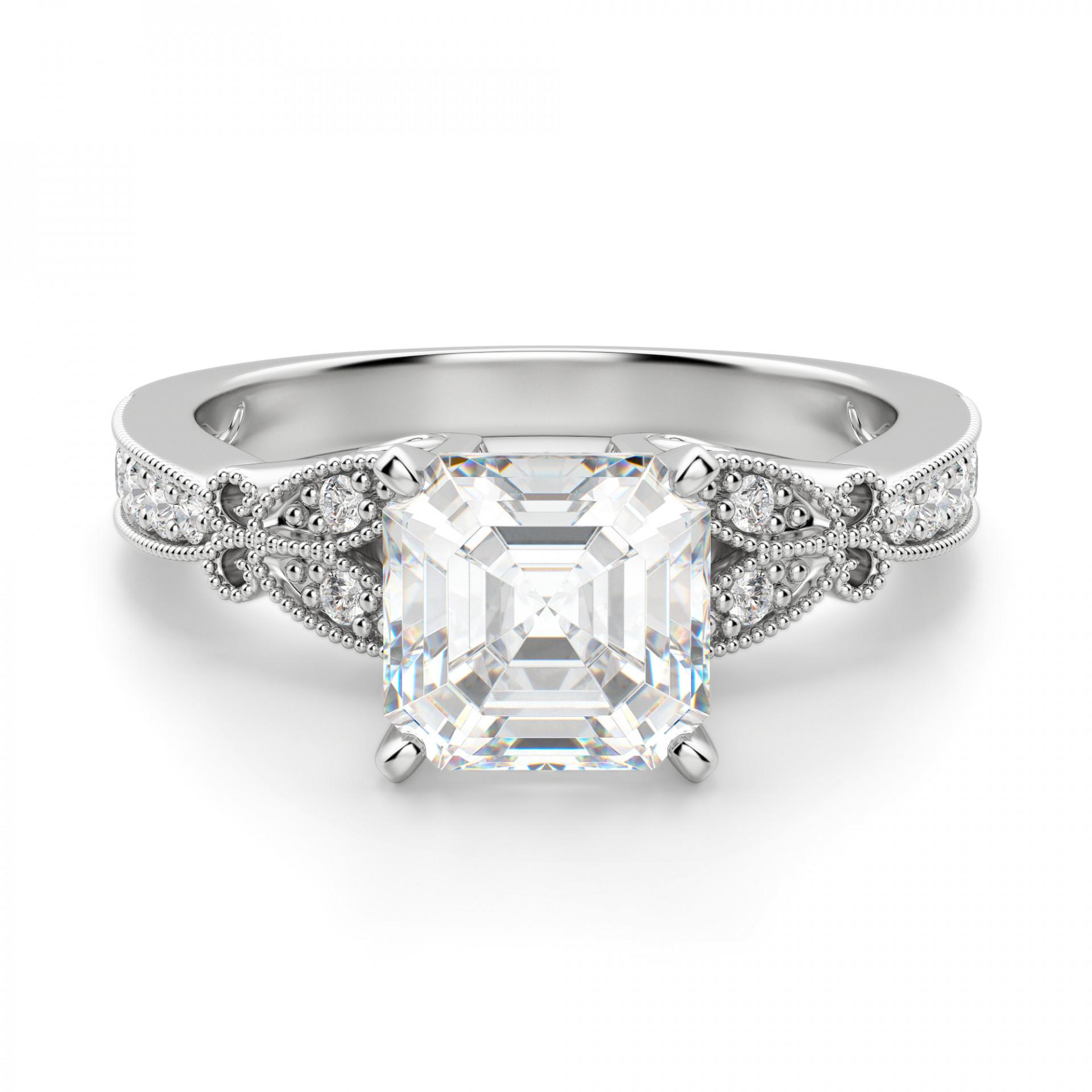 983406e4645 French Quarter Asscher Cut Engagement Ring