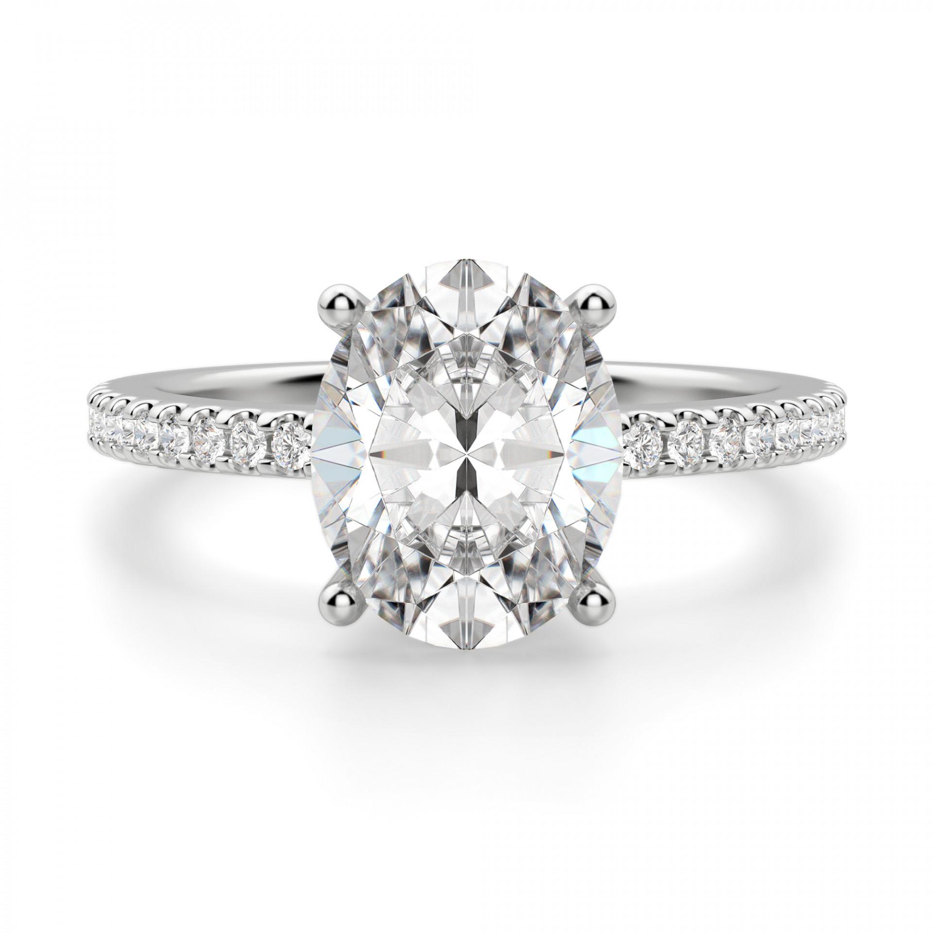 885ea1b5c5dca Basket Set 2.54 carat Oval cut Accented Engagement Ring