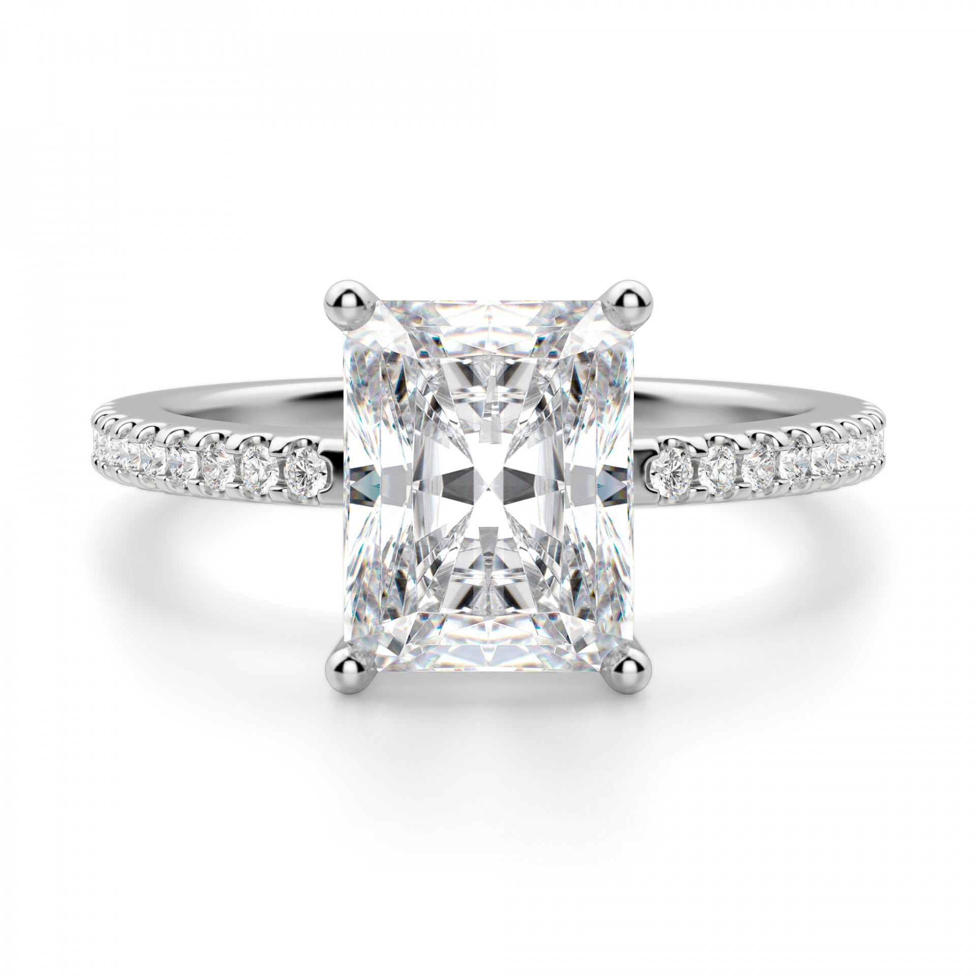 a6af7bc035e Basket Set 2.62 carat Radiant cut Accented Engagement Ring