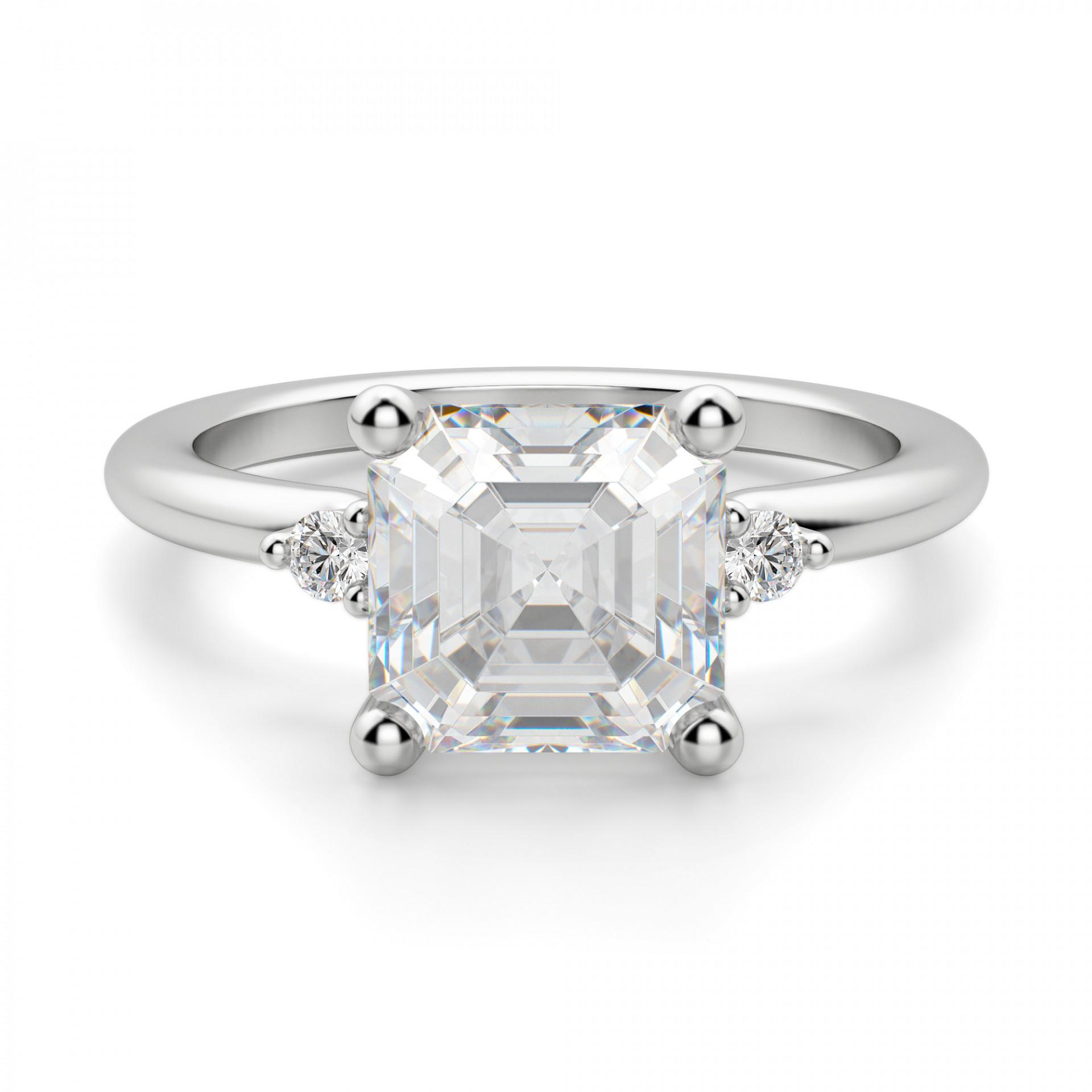 0ad2aa2e784d4 Muse 2.40 carat Asscher Cut Engagement Ring