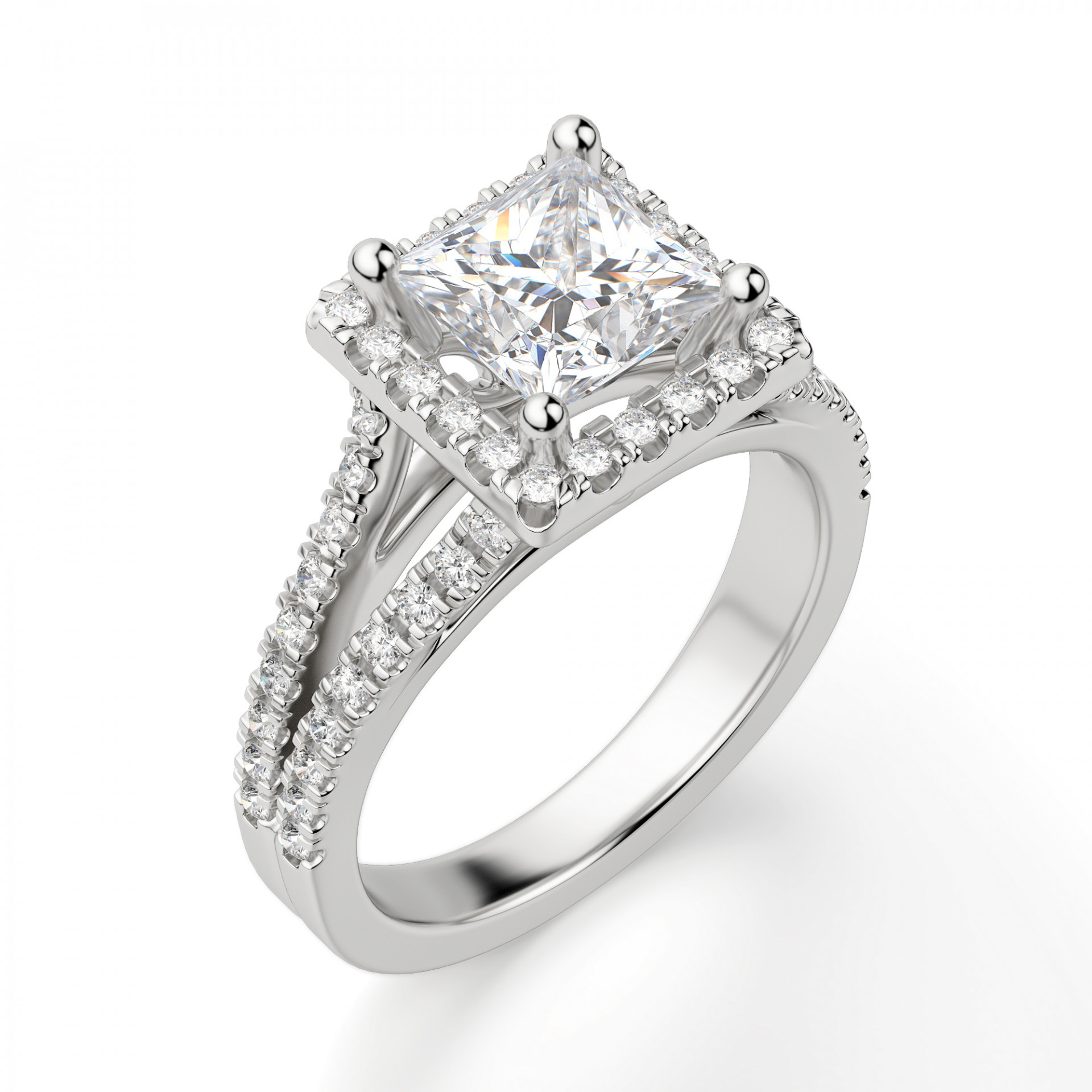d8ddfc5a93c1a Palm Springs Princess Cut Engagement Ring