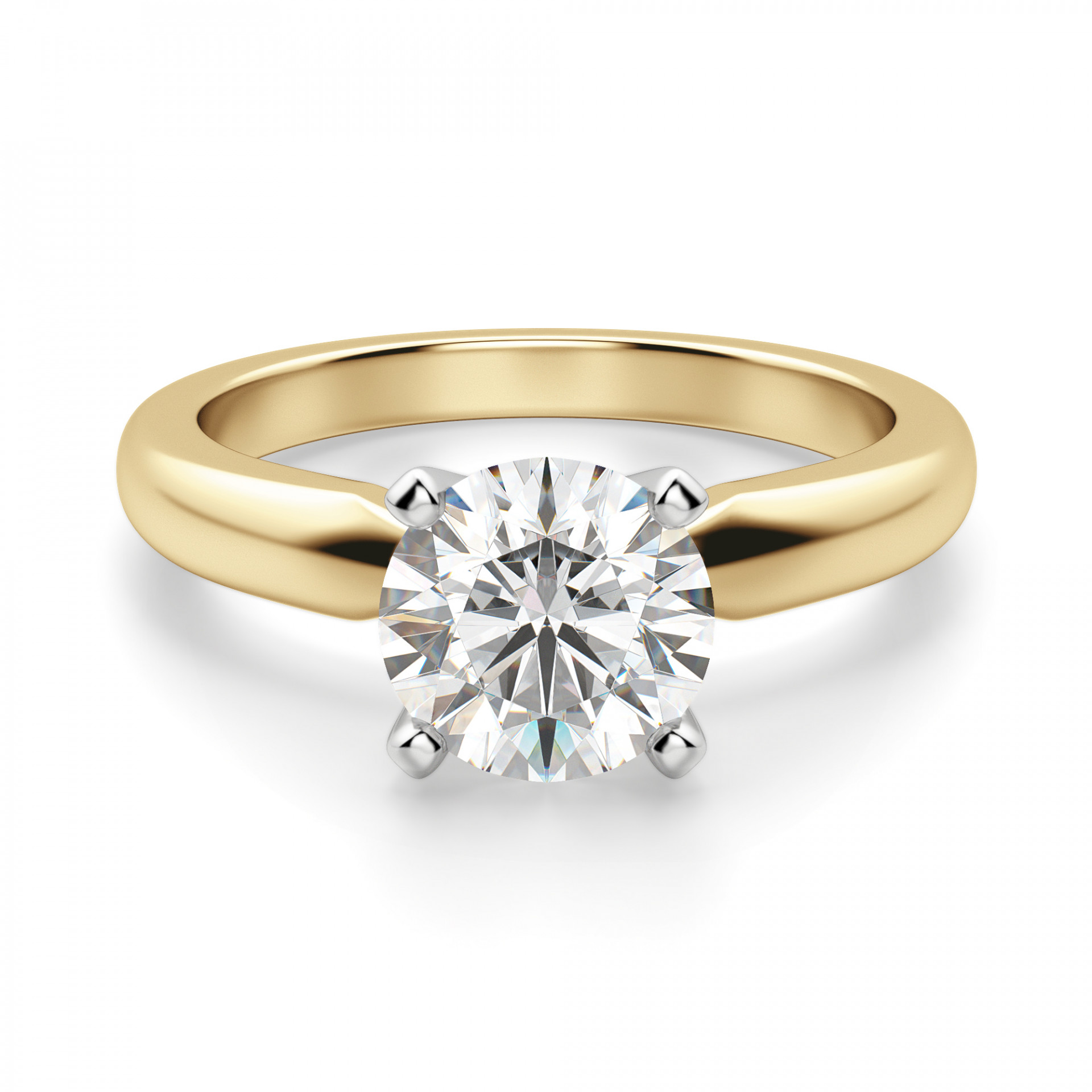 tiffany style round cut solitaire engagement ring. Black Bedroom Furniture Sets. Home Design Ideas