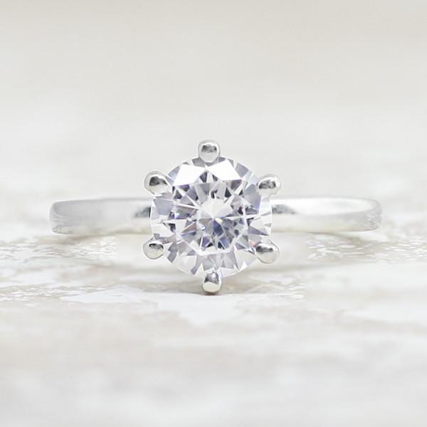 1826b204f40 Semi-Custom Tiffany-Style 6 Prong with 2.55 carat Round Brilliant Center -  Platinum - Ring Size 5.75