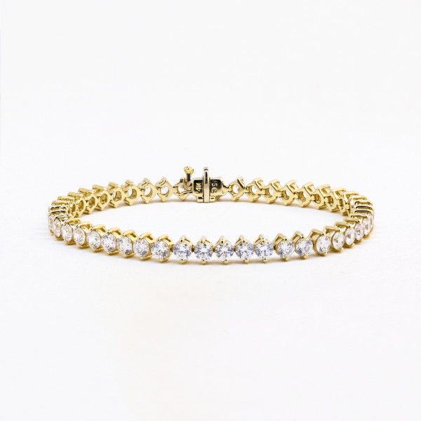 Discontinued Adoration Tennis Bracelet with 9.45 Total Carat Weight - 14k Yellow Gold
