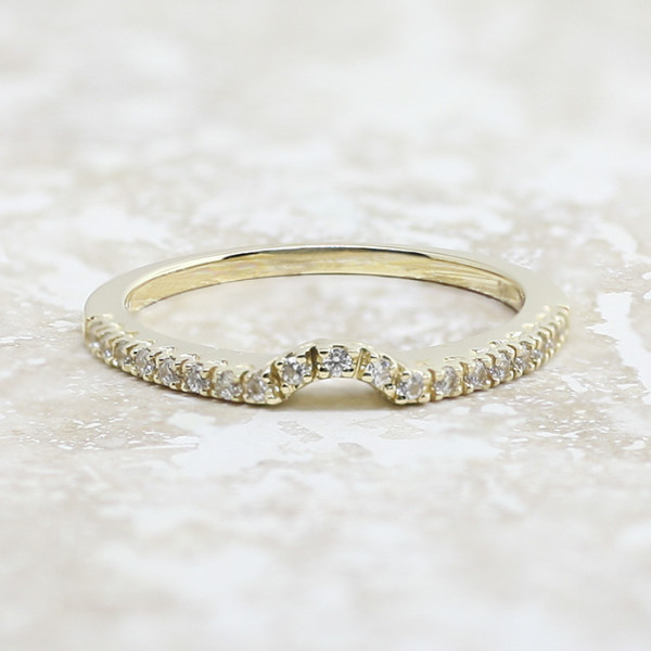 Angelix Matching Band with 0.20 Total Carat Weight - 14k Yellow Gold - Ring Size 4.75-6.25