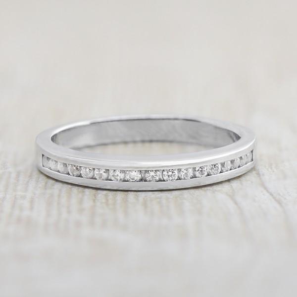 Astra Matching Band - 14k White Gold - Ring Size 8.0-11.0
