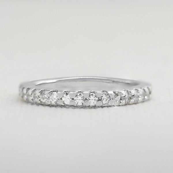 Blythe Matching Band - 10k White Gold - Ring Size 9.0-11.0