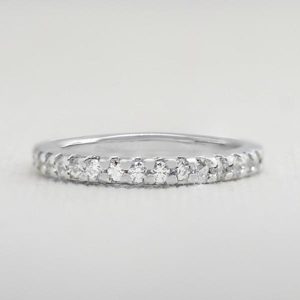 Blythe Matching Band - 10k White Gold - Ring Size 8.0-10.0