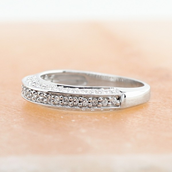 Bridge of Lovers - 14k White Gold - Ring size 6.5