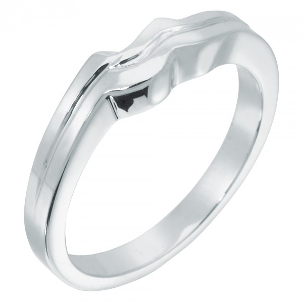 Cardiff Matching Band - 18k White Gold - Ring Size 5.5.-7.0
