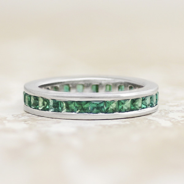 Cordelia Emerald with 1.86 Total Carat Weight - 14k White Gold - Ring Size 8.5