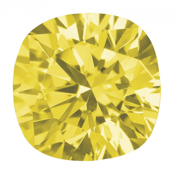 Canary Cushion Cut