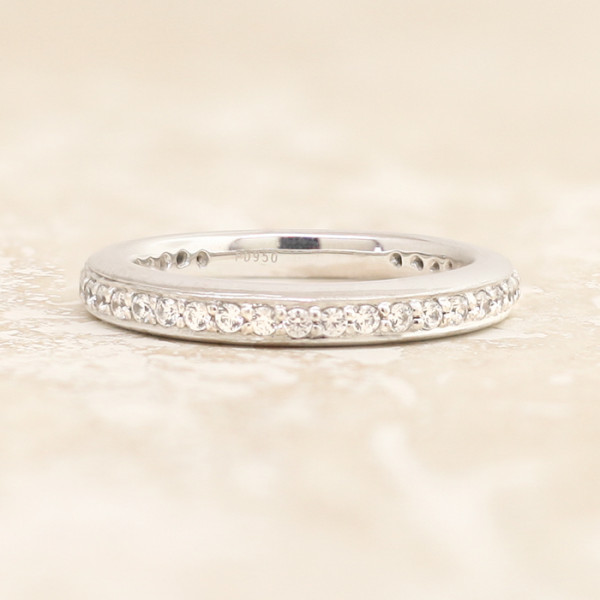 Discontinued Diana Matching Band - 14k White Gold - Ring Size 7.5