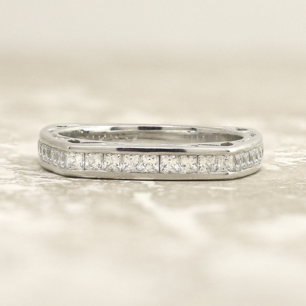 Discontinued Maya Costa Matching Band - 14k White Gold - Ring Size 8.0