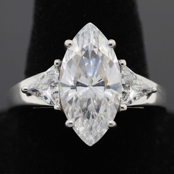 Acapella Marquise Ring - Lorian Platinum - Ring Size 4.0