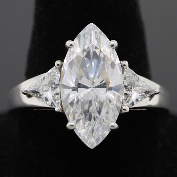 Acapella Marquise Ring - Lorian Platinum - Ring Size 6.0