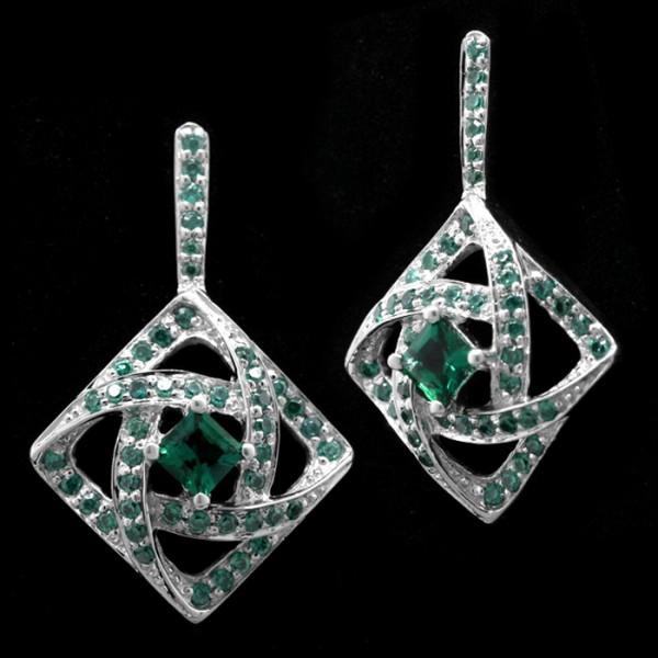 Mimza with Emerald Stones - Lorian Platinum