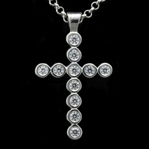 Holiday Saver Cross Pendant  - Sterling Silver