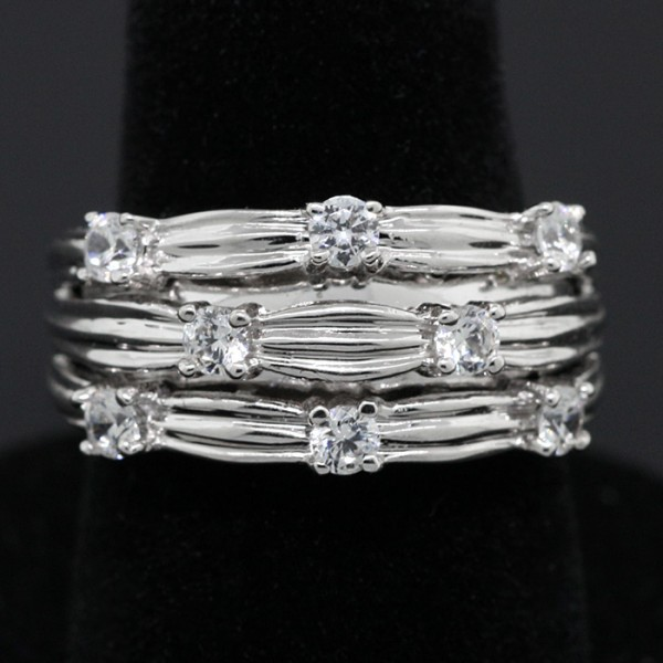Weave Ring - Lorian Platinum - Ring Size 5.0