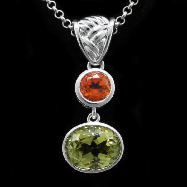 Firefly with Orange and Green - Lorian Platinum