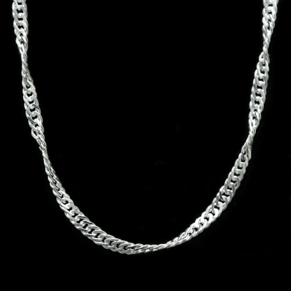 Singapore Chain - Lorian Platinum - 16 inches - 1.4 mm