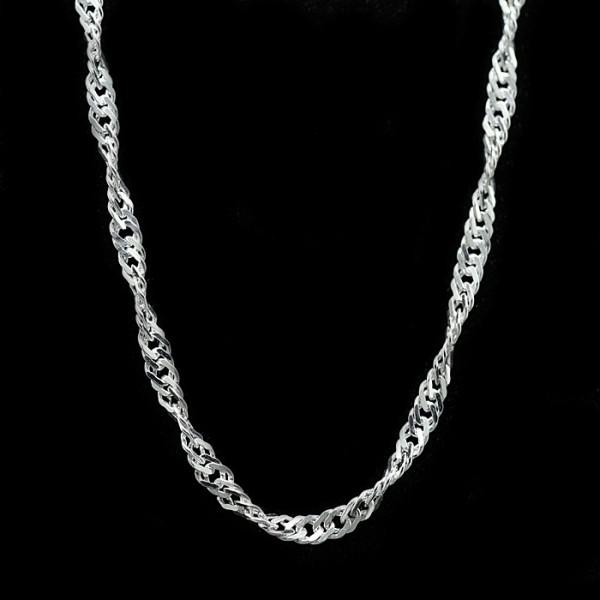 Singapore Chain - Lorian Platinum - 18 inches - 1.40 mm