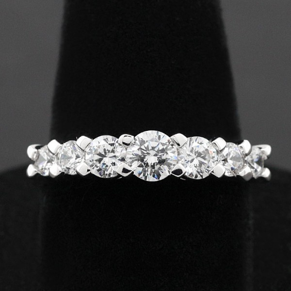 Cascading 7-Stone Ring - Sterling Silver - Ring Size 8.0