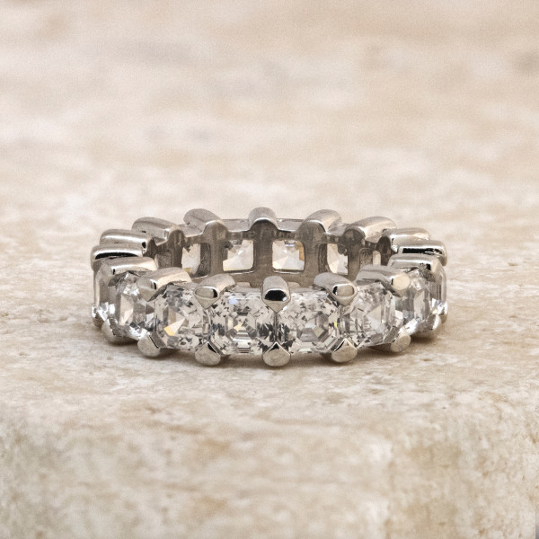 Semi-Custom Eternal Love Bold with 6.24 Total Carat Weight - Platinum - Ring Size 5.75