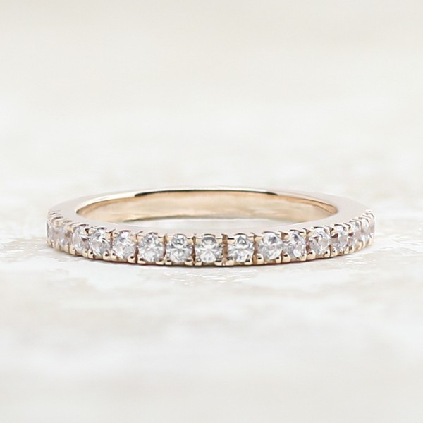 Fever Wedding Band with 0.42 Total Carats - 14k Rose Gold - Ring Size 7.5