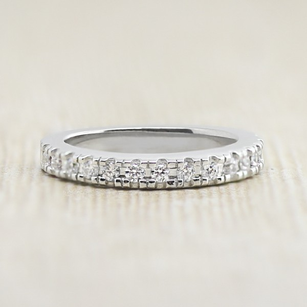 Fever Matching Band - 14k White Gold - Ring Size 5.25